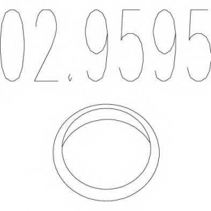 MTS 02.9595 Монтажное кольцо выхлопной системы ( D(внутр.) - 47 мм; D(наружн.) - 57 мм; Высота - 10 мм)