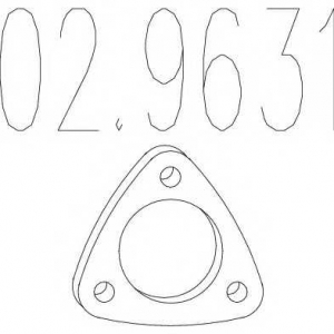 MTS 02.9631 Монтажное кольцо выхлопной системы