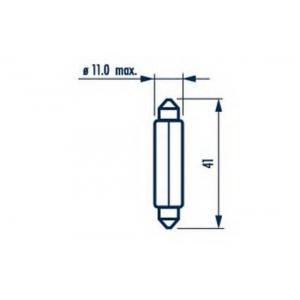 Лампа накаливания, фонарь освещения номерного знак 17314 narva - FORD ESCORT II (ATH) седан 1.1