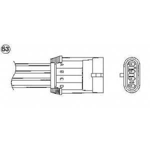 Лямбда-зонд 0431 ngk - OPEL OMEGA B (25_, 26_, 27_) седан 2.0 16V