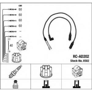 Комплект проводов зажигания 0502 ngk - AUDI 80 (89, 89Q, 8A, B3) седан 1.8 S