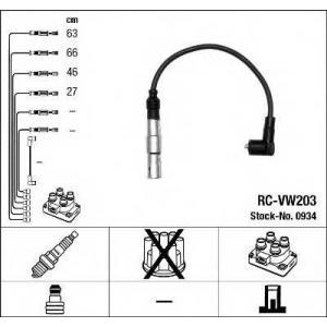 Комплект проводов зажигания 0934 ngk - AUDI A3 (8L1) Наклонная задняя часть 1.6