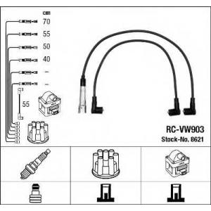 Комплект проводов зажигания 8621 ngk - VW GOLF II (19E, 1G1) Наклонная задняя часть 1.8 Syncro