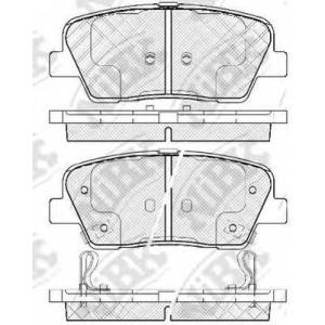 NiBK PN0415 Комплект тормозных колодок, дисковый тормоз Хюндай