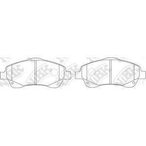 NIBK PN1233 Brake pads