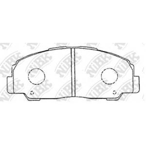 NiBK PN1291 Комплект тормозных колодок, дисковый тормоз Дайхатсу