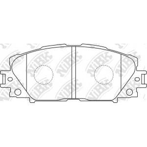 NIBK PN1508 Колодки гальмівні дискові передні, комплект