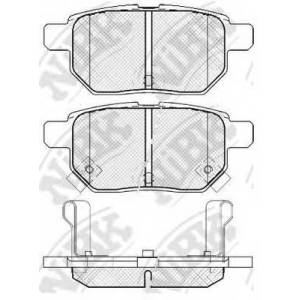 NIBK PN1519 Тормозные колодки, дисковые