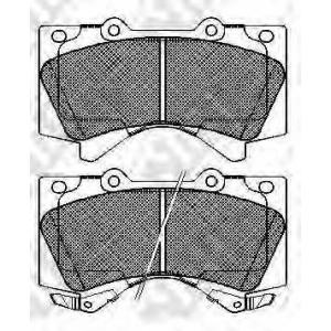 NIBK PN1541 Тормозные колодки, дисковые