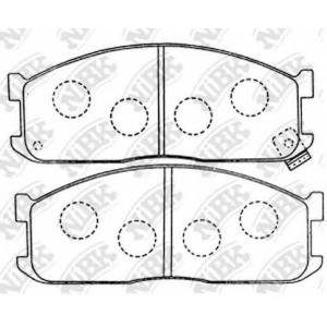 NiBK PN5211 Комплект тормозных колодок, дисковый тормоз Киа Беста