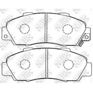 NiBK PN8254 Комплект тормозных колодок, дисковый тормоз Акура Нсх