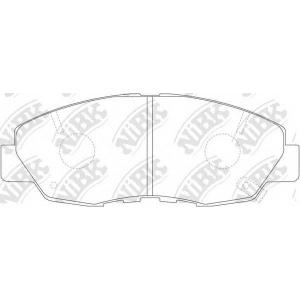 pn8484 nibk Комплект тормозных колодок, дисковый тормоз HONDA ACCORD седан 2.0 16V (CB3)