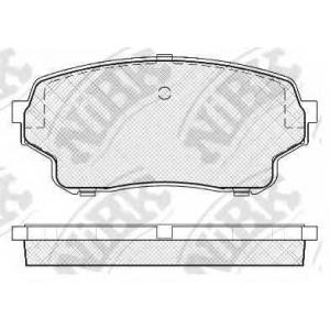 NIBK pn-9806 Колодки тормозные дисковые передние, комплект