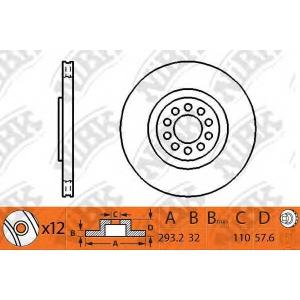 NiBK RN1269 Тормозной диск Исузу Ельф