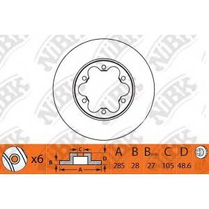 NIBK rn1330 Тормозной диск