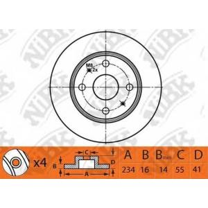 NIBK rn1481 Диск тормозной