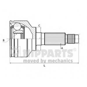 NIPPARTS J2822131 Шарнир приводного вала (ШРУС), к-кт.