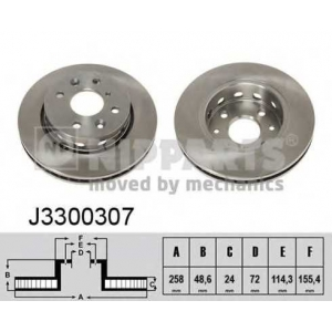 NIPPARTS J3300307 Тормозной диск
