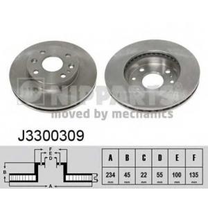 NIPPARTS J3300309 Диск гальмівний