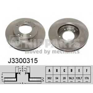 NIPPARTS J3300315 Диск гальмівний