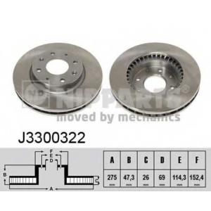 NIPPARTS J3300322 Диск гальмівний