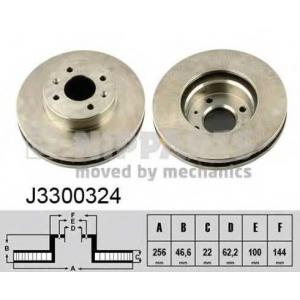 NIPPARTS J3300324 Диск гальмівний