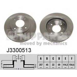 NIPPARTS J3300513 Диск гальмівний