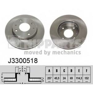 NIPPARTS J3300518 Диск гальмівний