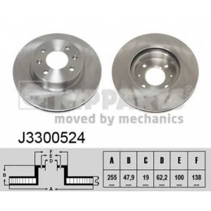 NIPPARTS J3300524 Диск гальмівний