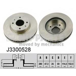 NIPPARTS J3300528 Тормозной диск