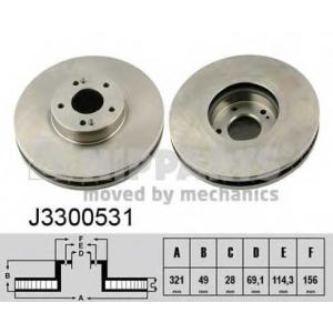 NIPPARTS J3300531 Тормозной диск