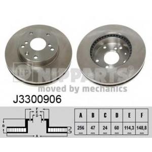 NIPPARTS J3300906 Диск гальмівний