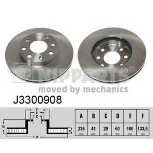 NIPPARTS J3300908 Диск гальмівний
