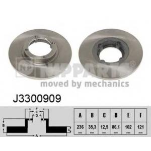NIPPARTS J3300909 Тормозной диск