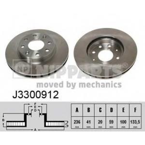 NIPPARTS J3300912 Тормозной диск