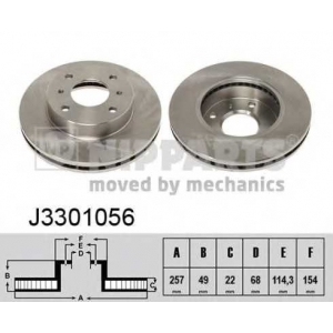 NIPPARTS J3301056 Тормозной диск