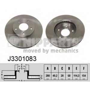 NIPPARTS J3301083 Диск гальмівний