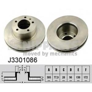 NIPPARTS J3301086 Тормозной диск