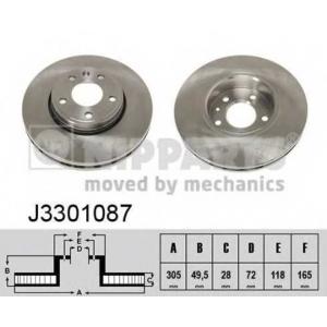 NIPPARTS J3301087 Тормозной диск