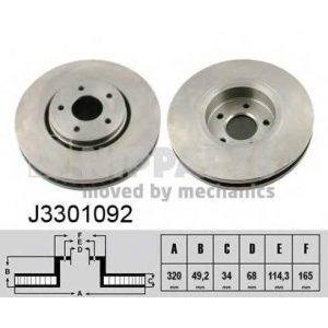 NIPPARTS J3301092 Тормозной диск