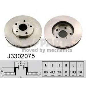 NIPPARTS J3302075 Диск гальмівний