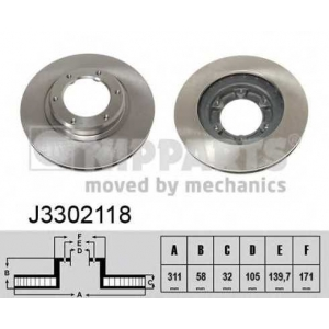 NIPPARTS J3302118 Диск гальмівний
