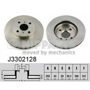 NIPPARTS J3302128 Гальмiвнi диски