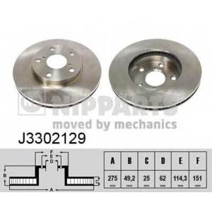 NIPPARTS J3302129 Диск гальмівний