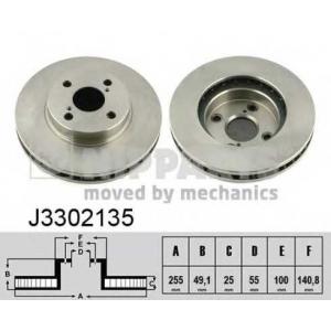 NIPPARTS J3302135 Диск гальмівний