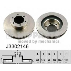 NIPPARTS J3302146 Тормозной диск