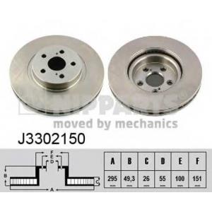 NIPPARTS J3302150 Диск гальмівний