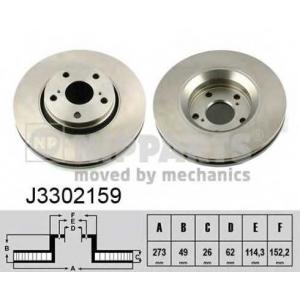 NIPPARTS J3302159 Тормозной диск