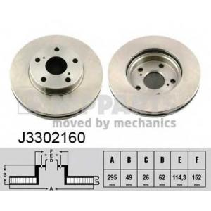 NIPPARTS J3302160 Тормозной диск
