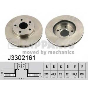NIPPARTS J3302161 Диск гальмівний